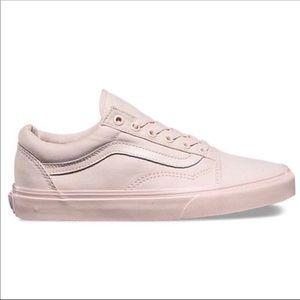 Vans Mono Canvas Old Skool Sneakers in Blush